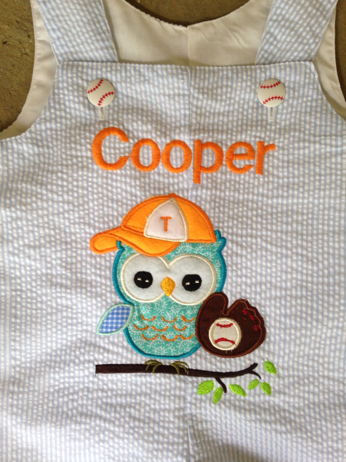 Owl baseball Jon Jon PERSONALIZED