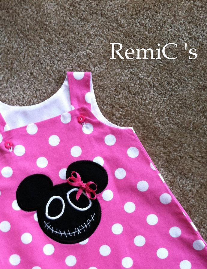 Girls halloween Minnie Mouse a line dress