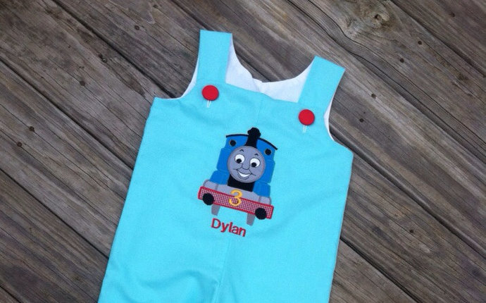 LONGALL Thomas the train boy personalized boutique outfit LONGALL