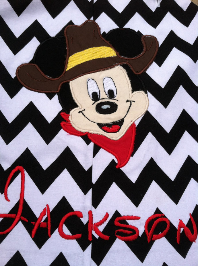 Mickey Mouse Cowboy BBQ longall