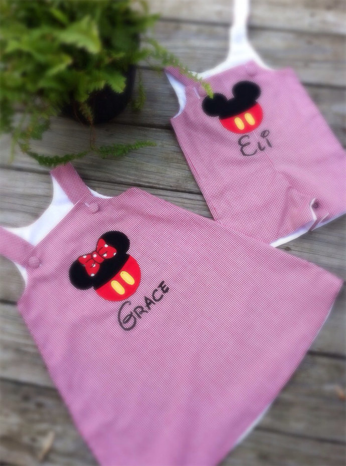 Shortall Brother and sister, twins, big sister little sister Mouse outfit