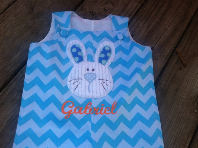 Easter BUNNY face,  only SHORTALL  available