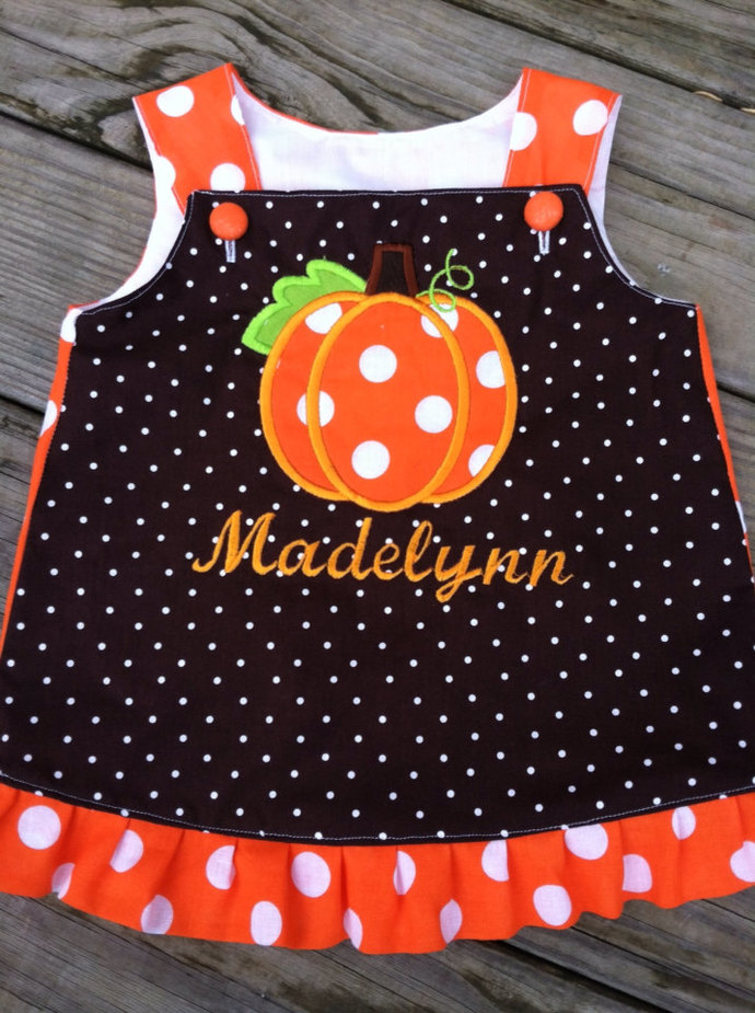 Personalized Thanksgiving A line dress Ruffle A line dress