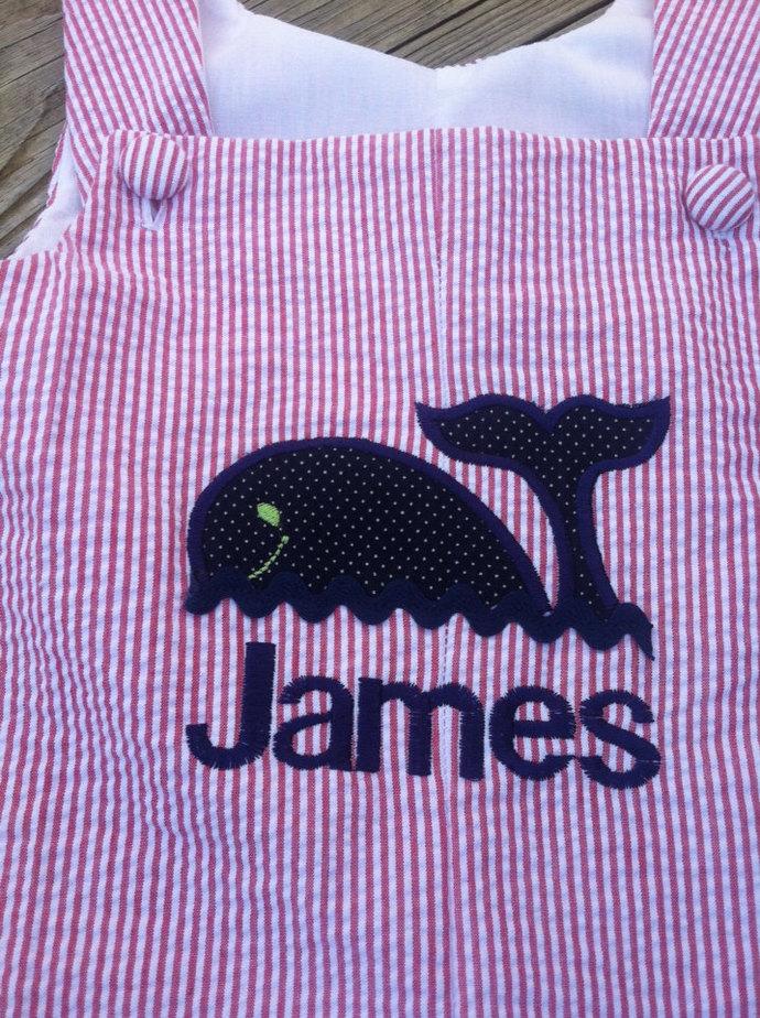 whale romper/Jon Jon/shortall