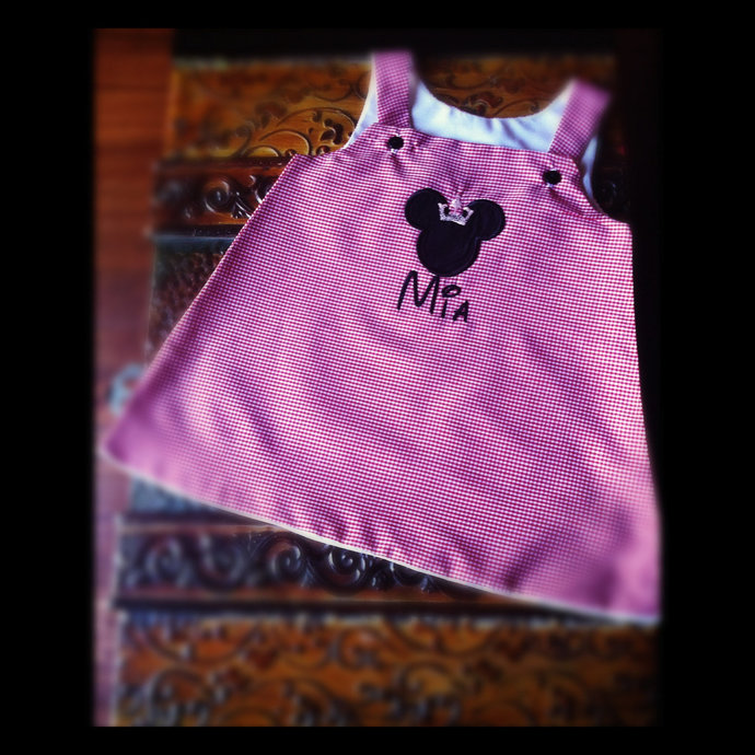 Princess Minnie mouse A line dress