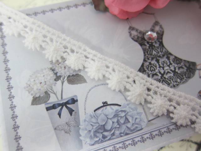 "Elegant Cotton Snowflake Lace 0.5"" - White"