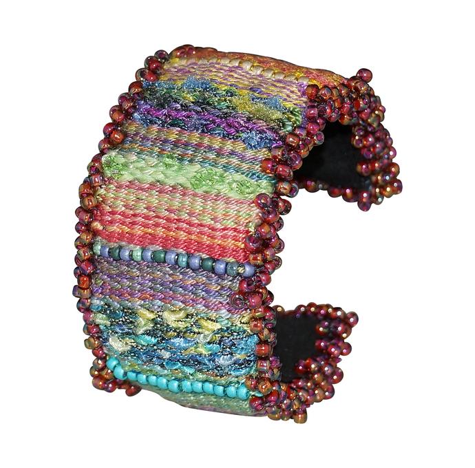 Colorful Loom Woven Wrist Cuff