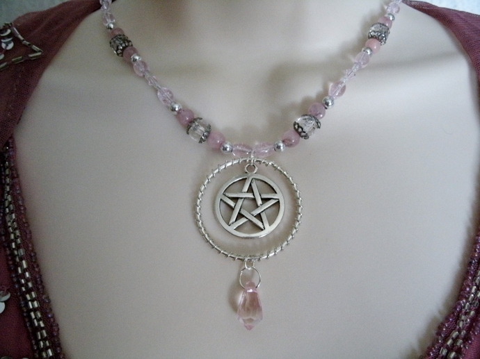 Wire Wrapped Pentacle Necklace, wiccan jewelry pagan wicca witch witchcraft
