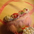 Shabby Chic Christmas Rose Tussie Mussie Cone - Handmade - OOAK