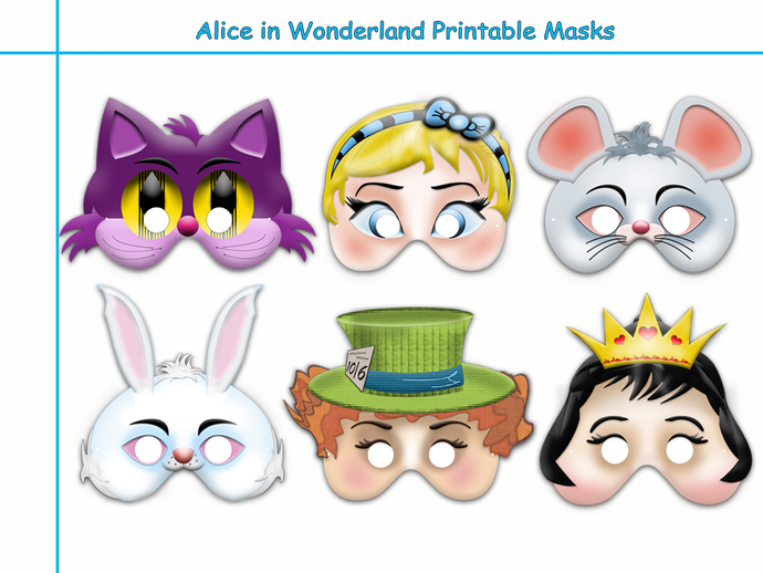 Unique Alice in Wonderland Printable by HolidayPartyStar on Zibbet