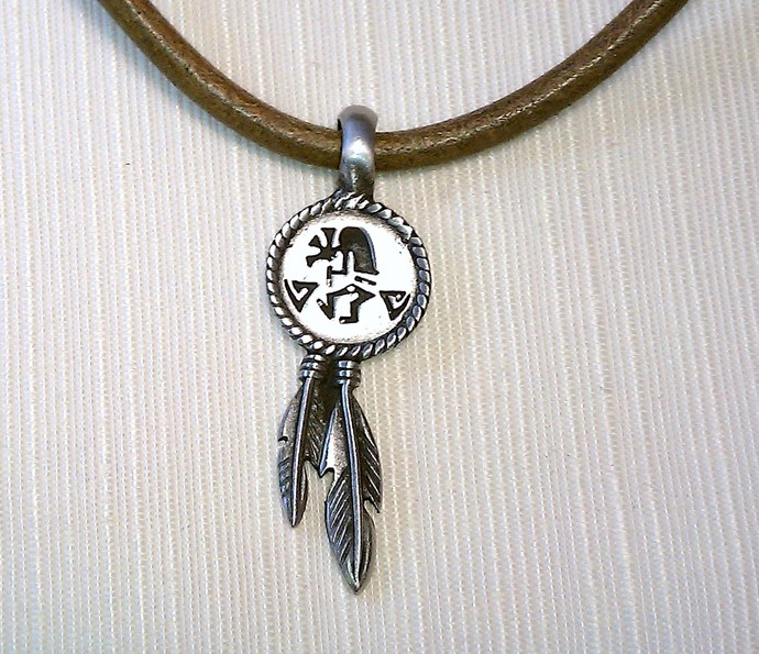 Euto Italian Leather Pendant, Item #491