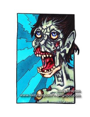 Singing Zombie digi Stamp
