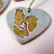 Cape Breton Porcelain Heart Christmas Ornament
