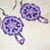 Mandala Earrings in Lavender