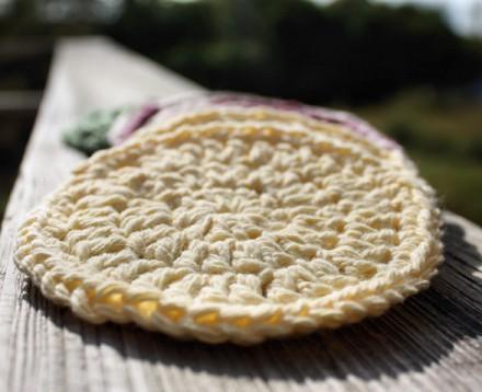 Crocheted Face Scrubbie - Set of 3