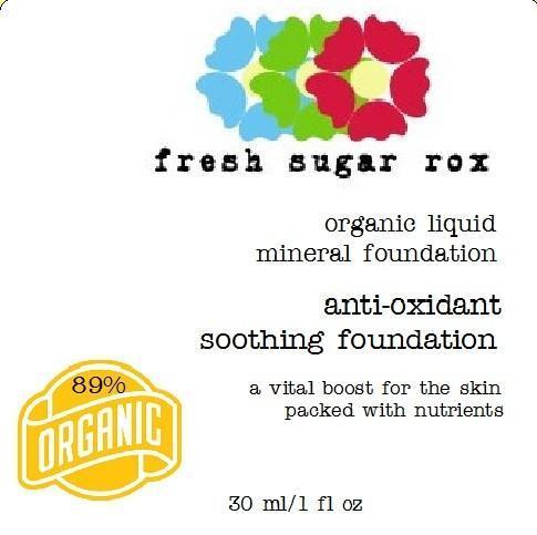 Organic Liquid Foundation- Light to Medium- with warm undertones