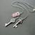 Randel necklace: silver, vintage look, heraldry-inspired necklace with three