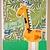 Urdu Birthday Giraffe Card
