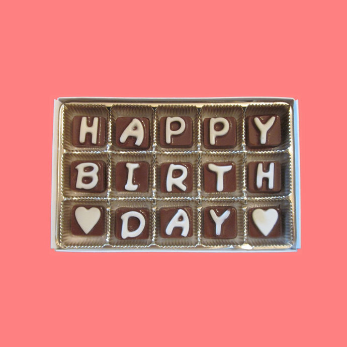 Happy Birthday Cubic Chocolate Letters By What Candy Says On Zibbet