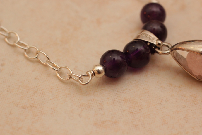 Rose quartz mother goddess chain necklace