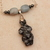 Snowflake obsidian mother goddess chain necklace