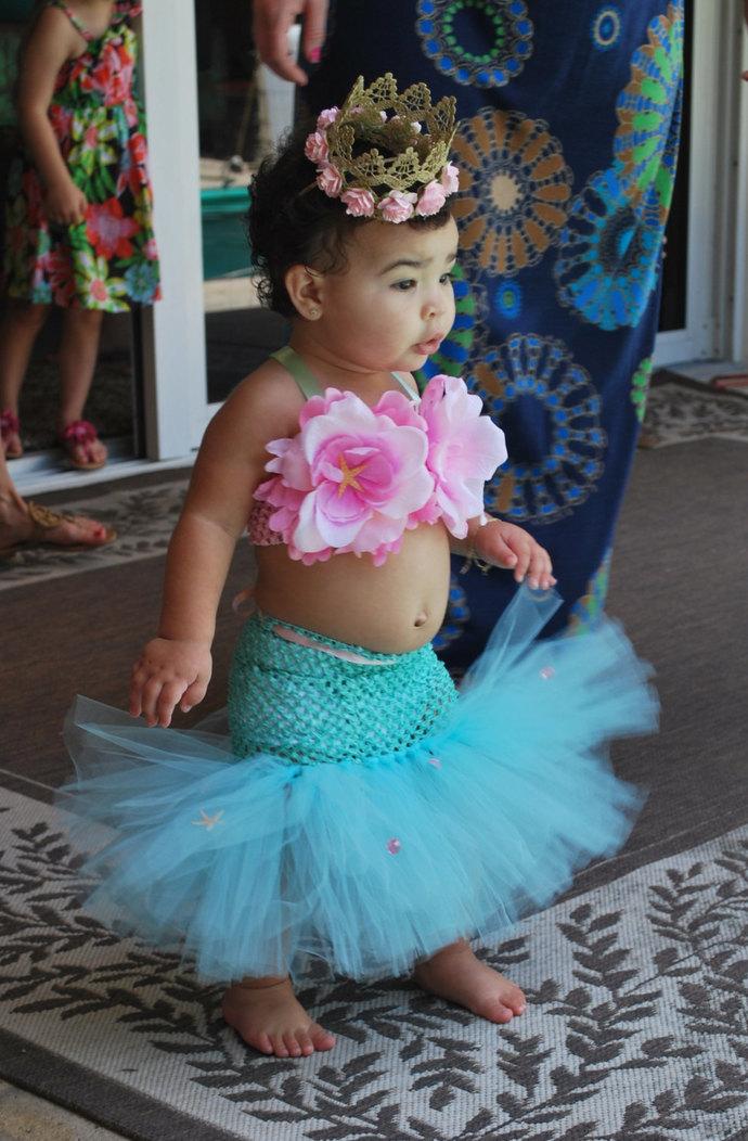 Mermaid Tutu Little Mermaid Mermaid Costume Ocean Theme Beach Theme Be...
