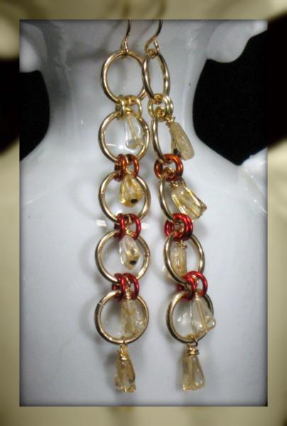 Sun Drops Chainmaille Earrings