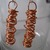 Coiled copper wire earrings, copper dangle earrings, copper earrings, long