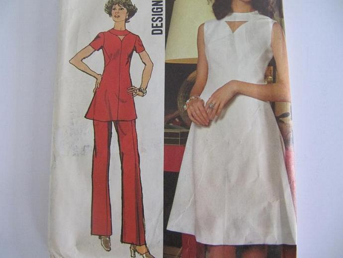 Vintage 1970s Dress or Tunic and Pants Pattern