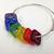 Rainbow  Bead Bangle Bracelet / ROYGBIV Bracelet / ART Teacher Gift / Artist