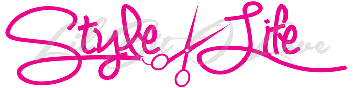 Style Life Vinyl Decal- Hair Stylist, Scissors Cosmetology, Beauty Hair Salon