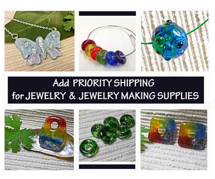 Priority Shipping Upgrade for Jewelry & Jewelry Making Supplies on In the Shade