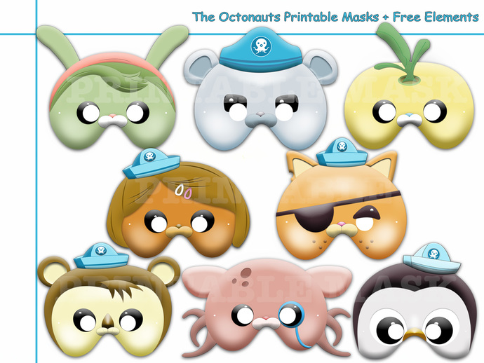 Unique The Octonauts Printable Masks By Holidaypartystar