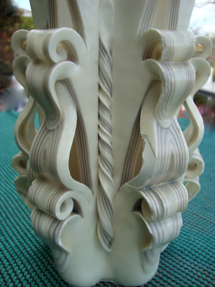 on sale Handmade carved candle