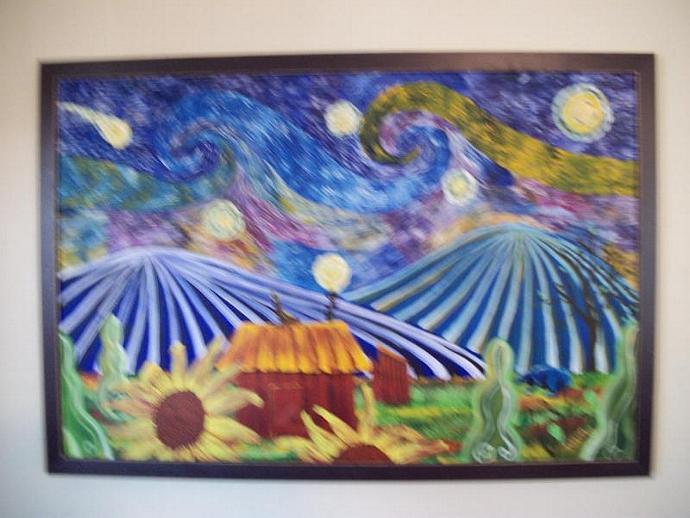 Fantasy Farmhouse-original painting