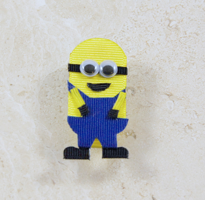 Despicable Me Minion hair bow clip, Minion Hair Bow,
