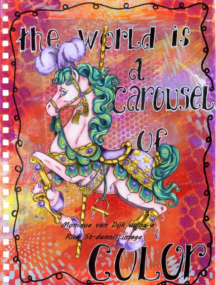 Carousel Horse Digital Stamp