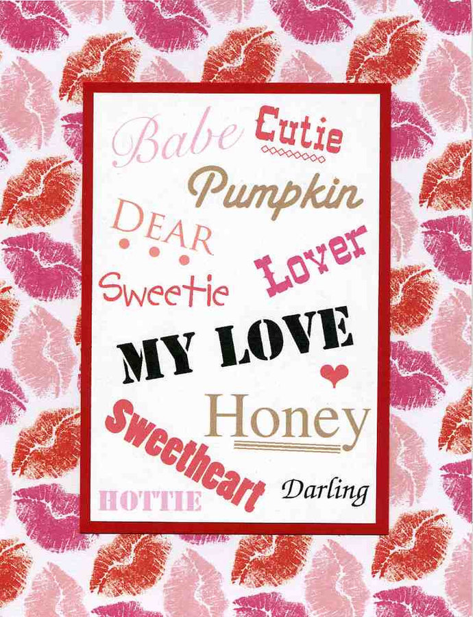 Sweet Valentine Card for Husband Wife by Kards by Kaylee on Zibbet – Wife Valentine Card