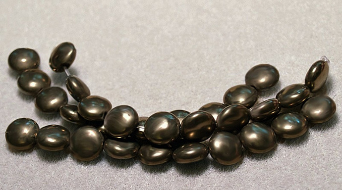 Fool's Gold Coins- fool's gold beads, pyrite beads