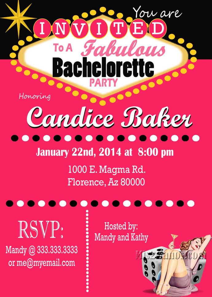 Casino Theme Party Las Vegas Bachelorette Party – Las Vegas Bachelorette Party Invitations