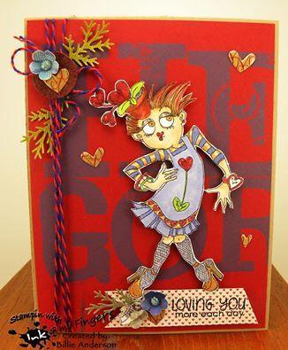 Charlotte Chic Valentine Girl digi stamp