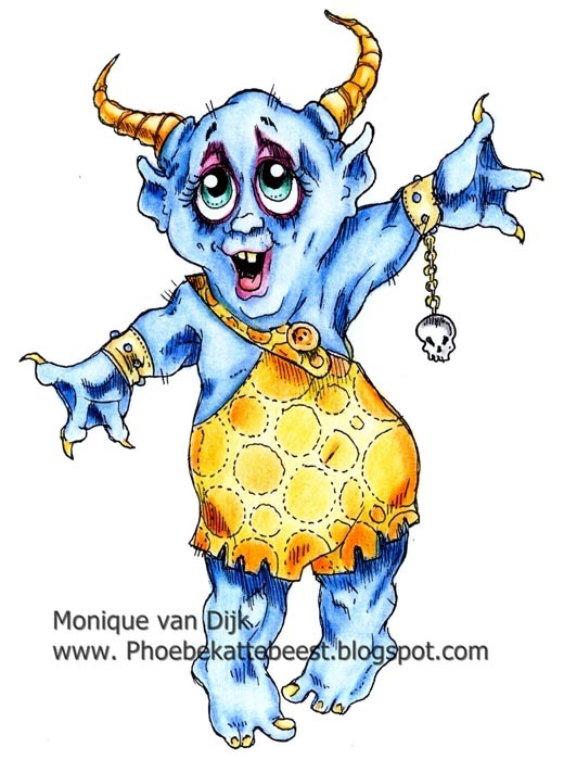 FWIVER the little monsterDigi Stamp  2013
