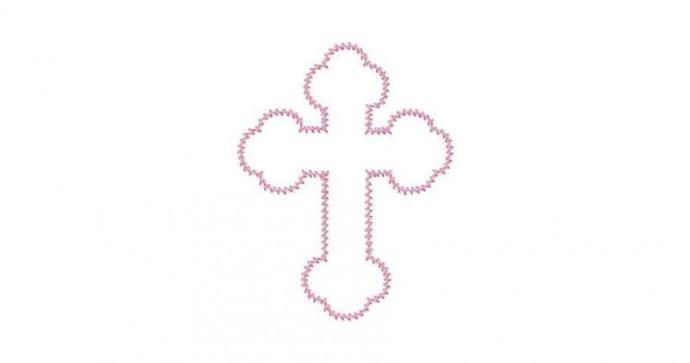 Celtic Cross Applique Machine Embroidery Design