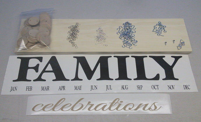 Family Celebration Board Family Birthday Board Diy