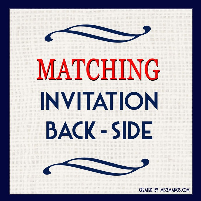 MATCHING INVITATION BACKER - Add-On to any design in shop