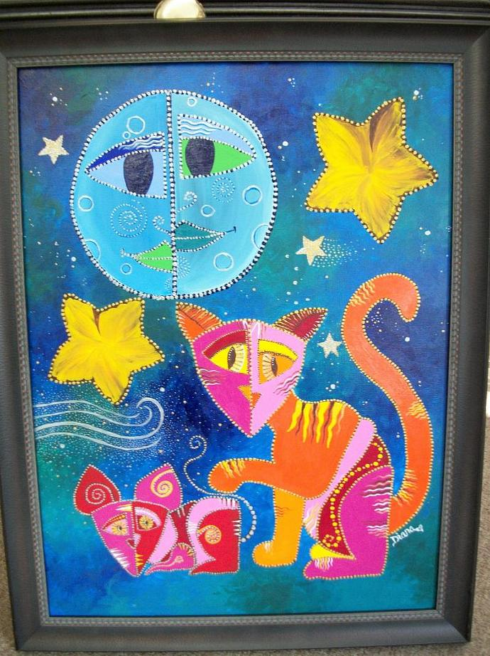 Playing Cat And Mouse - original painting