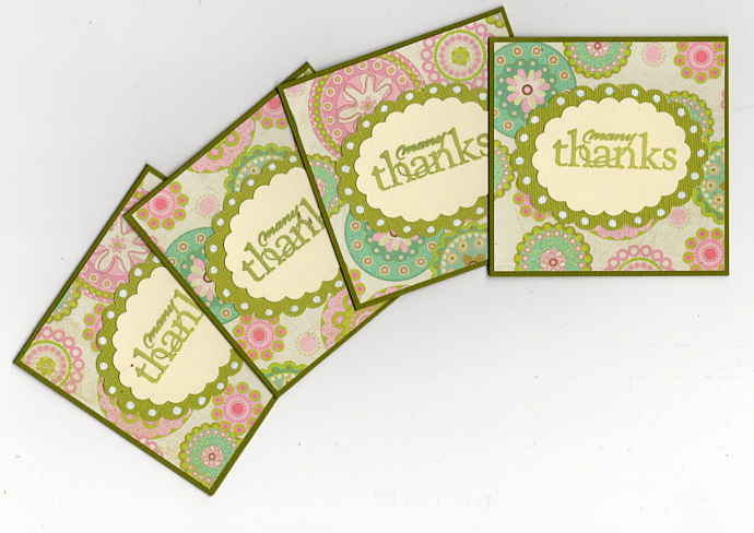 Mini Thank You Note Enclosure Cards