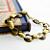 Vintage 15 mm Wide Raw Brass Loop Link 7.5 Inch Bracelet - Wear, Beadable,