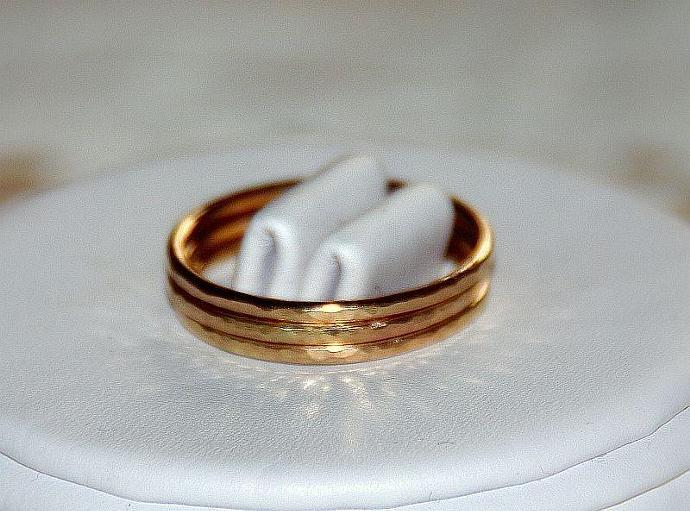 Set of 3 -14k gold filled handmade stackable rings