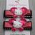 Beaded Fuschia Butterfly- Pink Kitty Clip